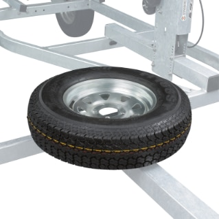 Move ll Spare Wheel Support - Zinc Coated