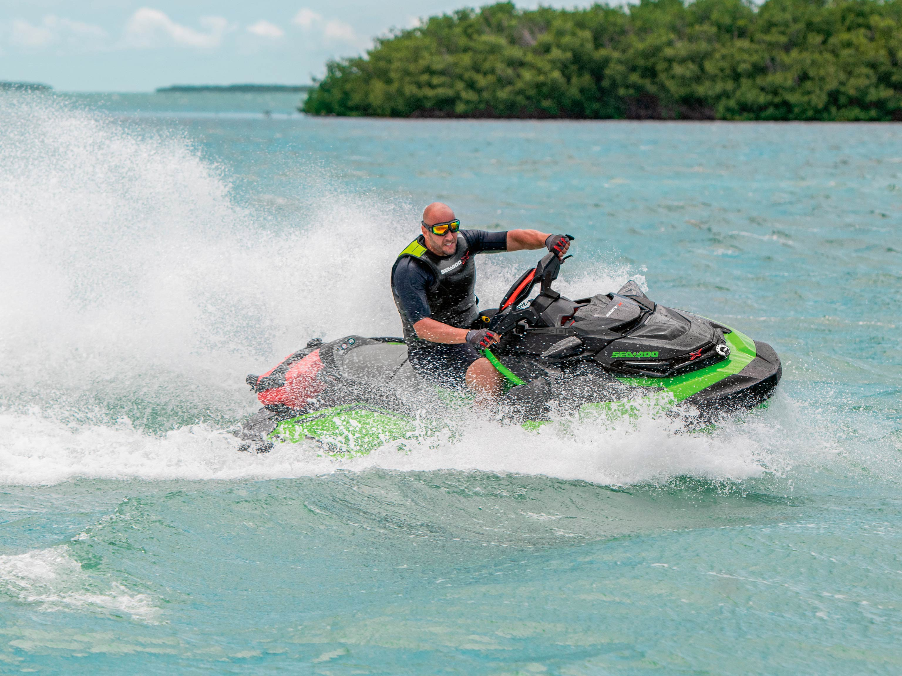 Man having fun with his Sea-Doo RXT-X