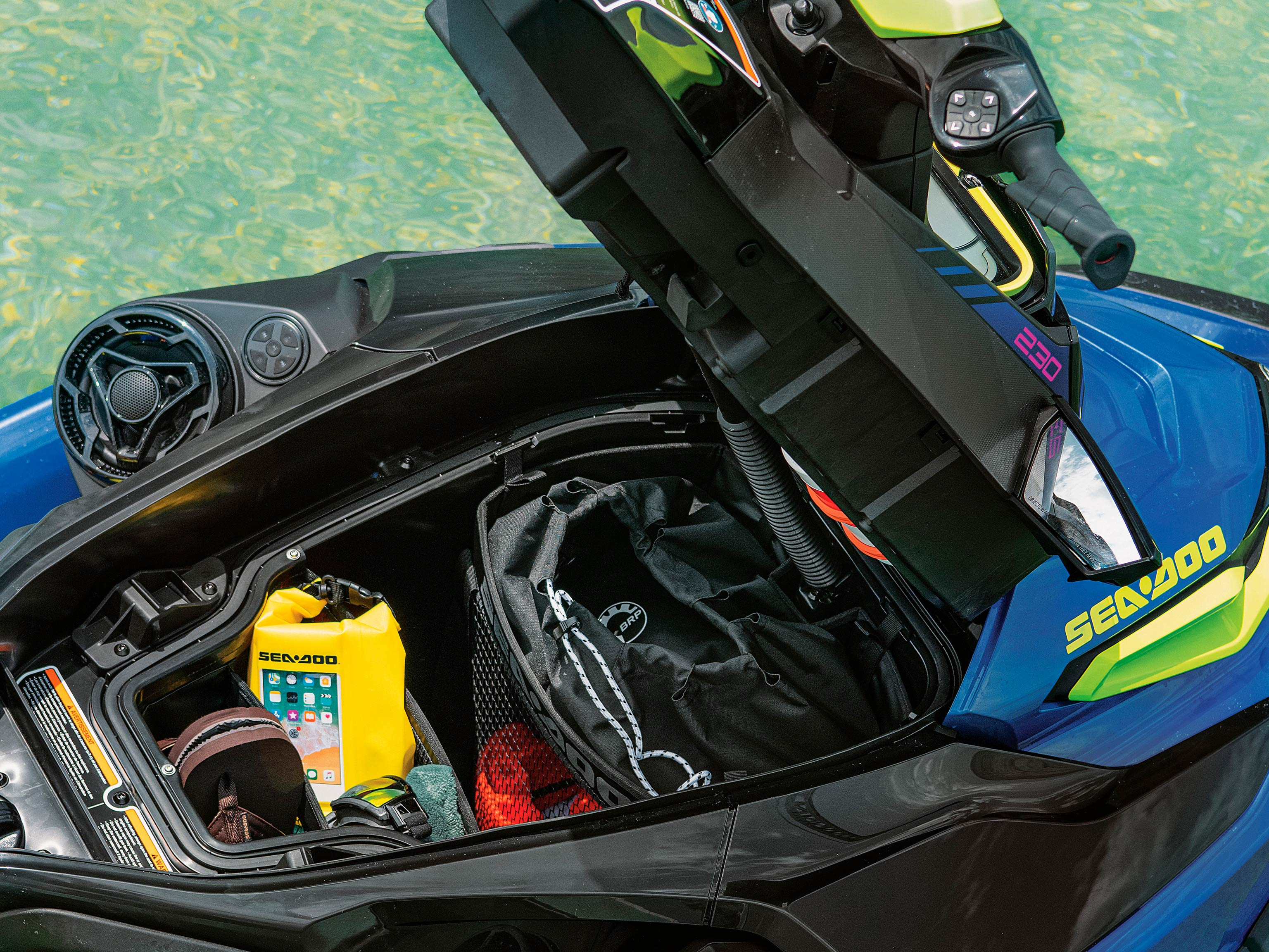 Sea-Doo WAKE PRO with front storage open