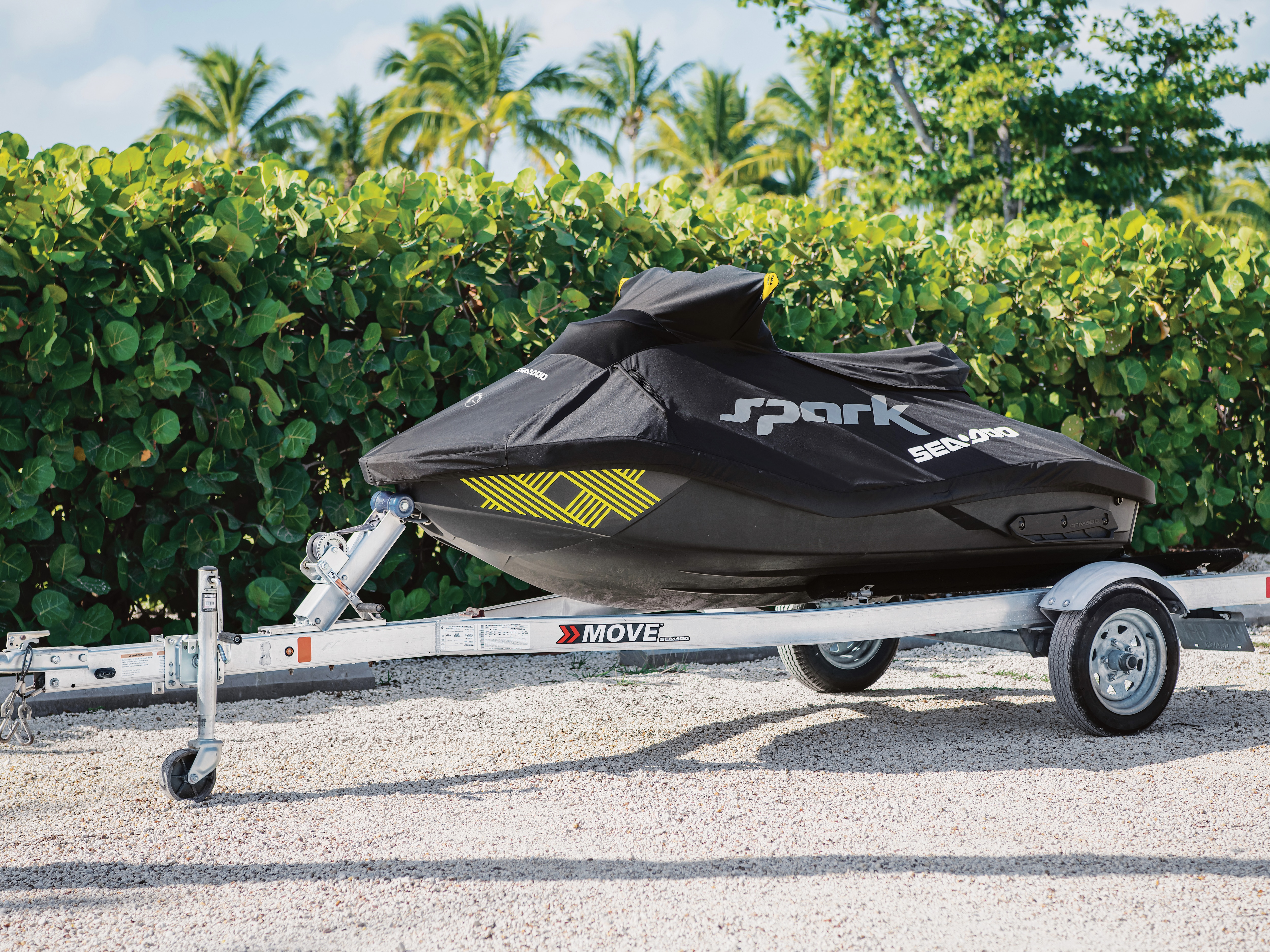 Sea-Doo Spark on a trailer