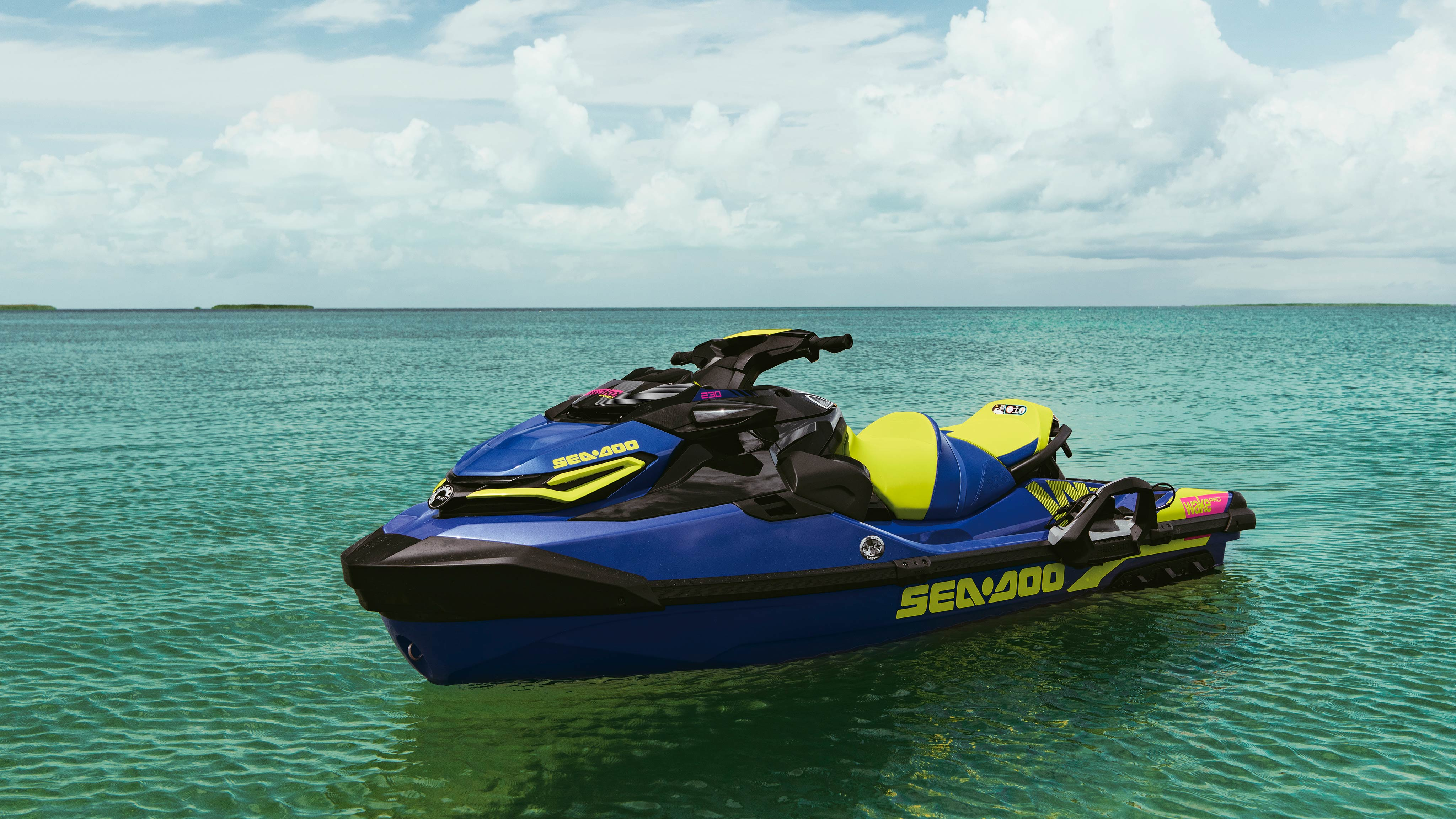 Sea-Doo Wake Pro Beauty shot on the water