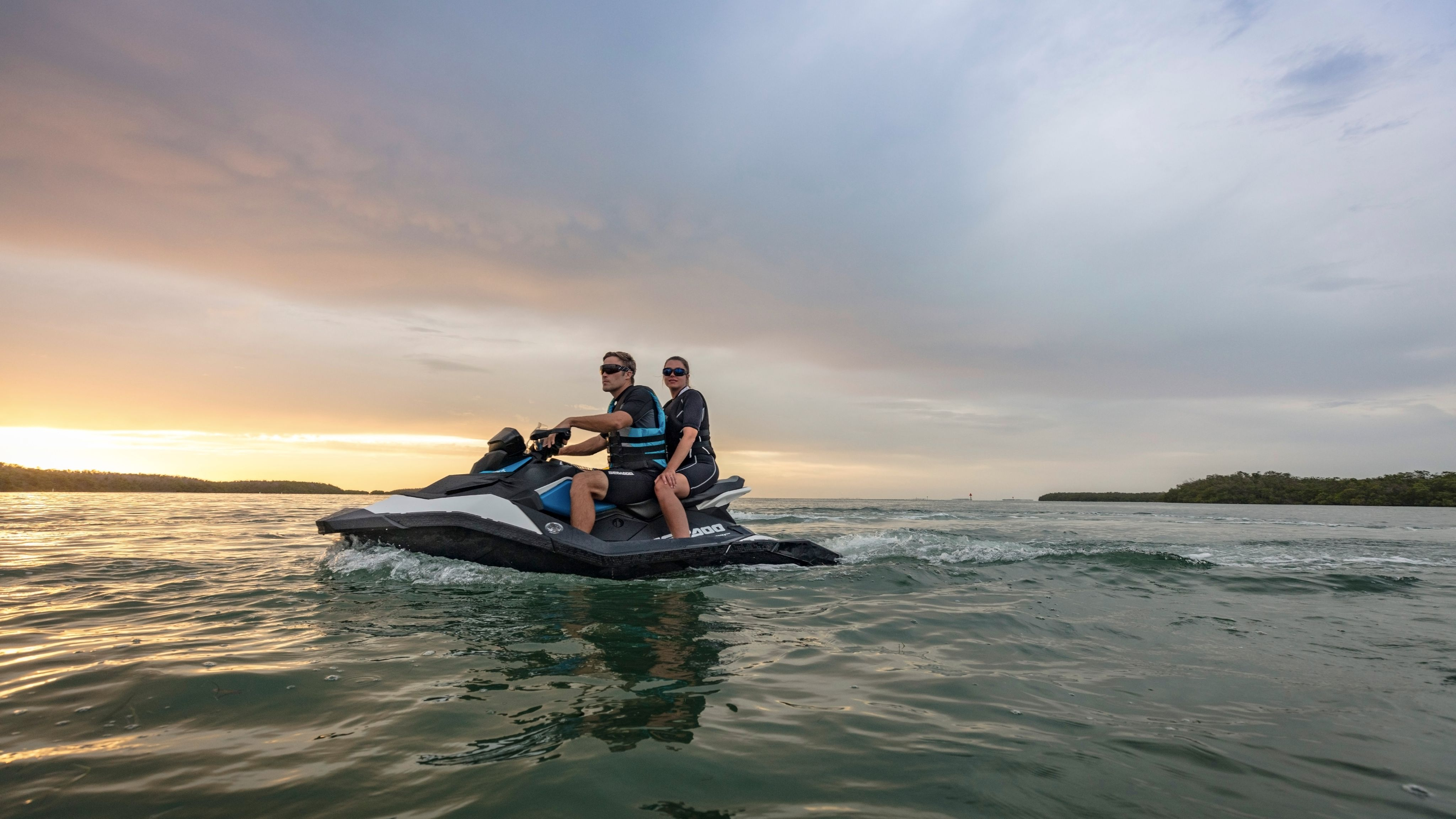 Man and women on a Sea-Doo