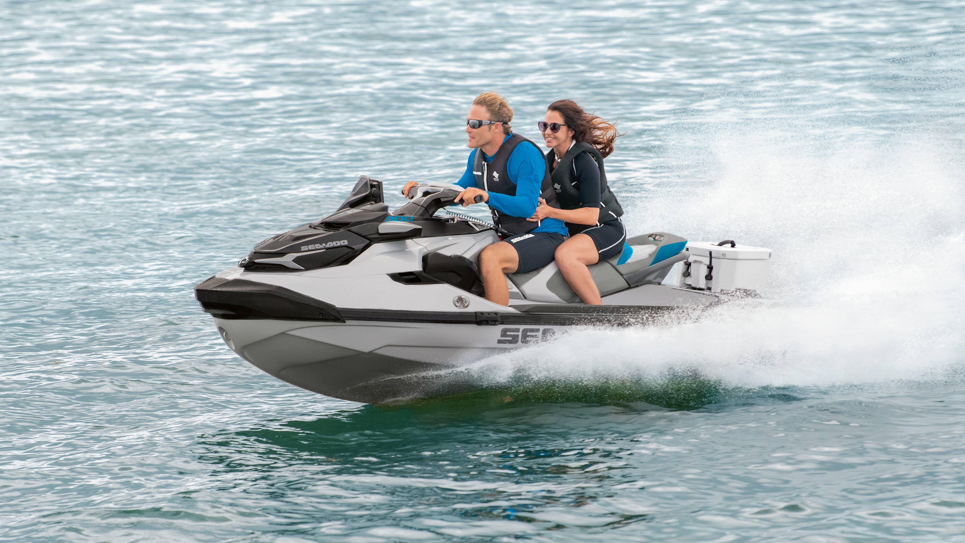 Couple Riding on a Sea-Doo