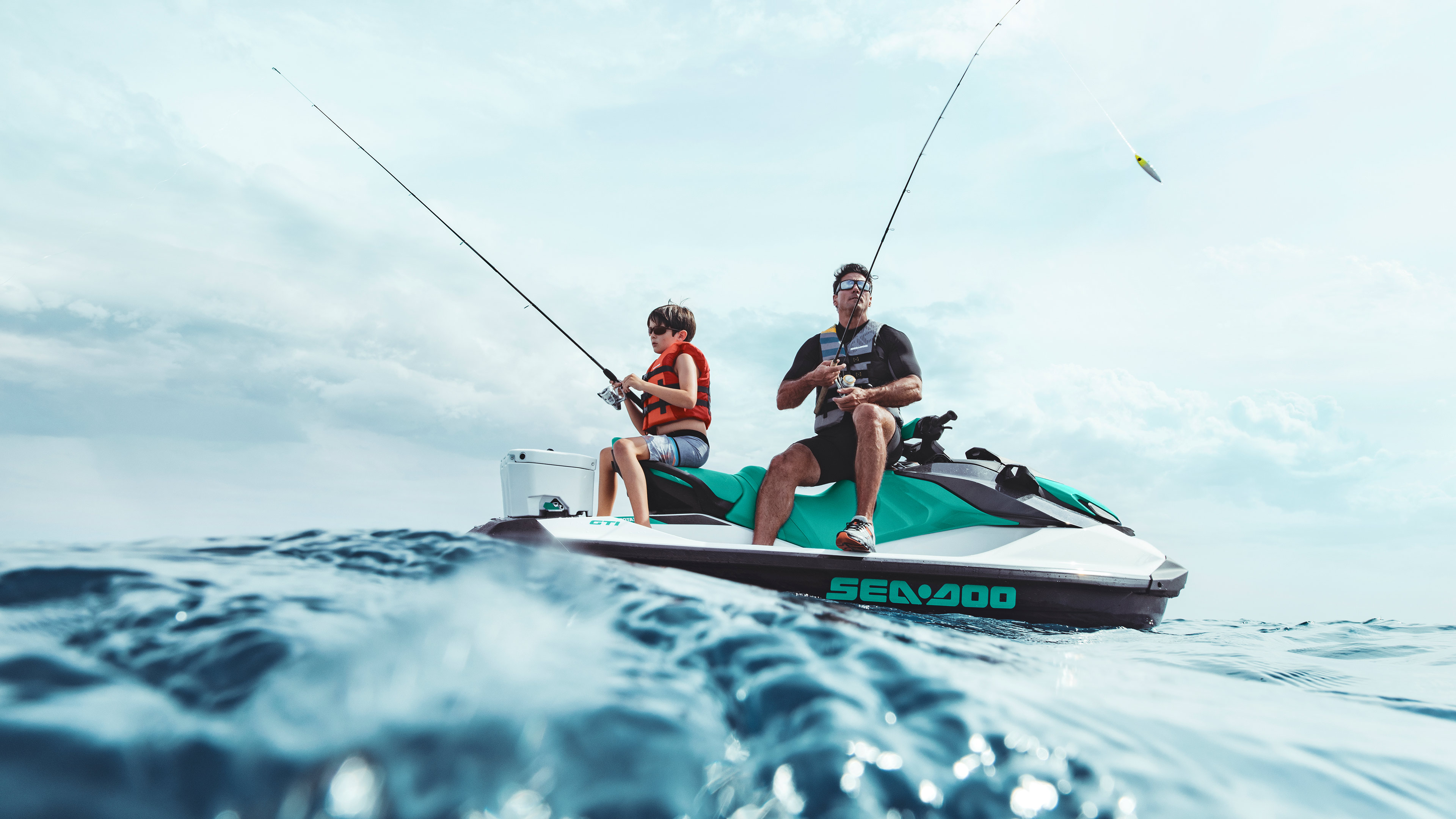 GTI Father and son fishing