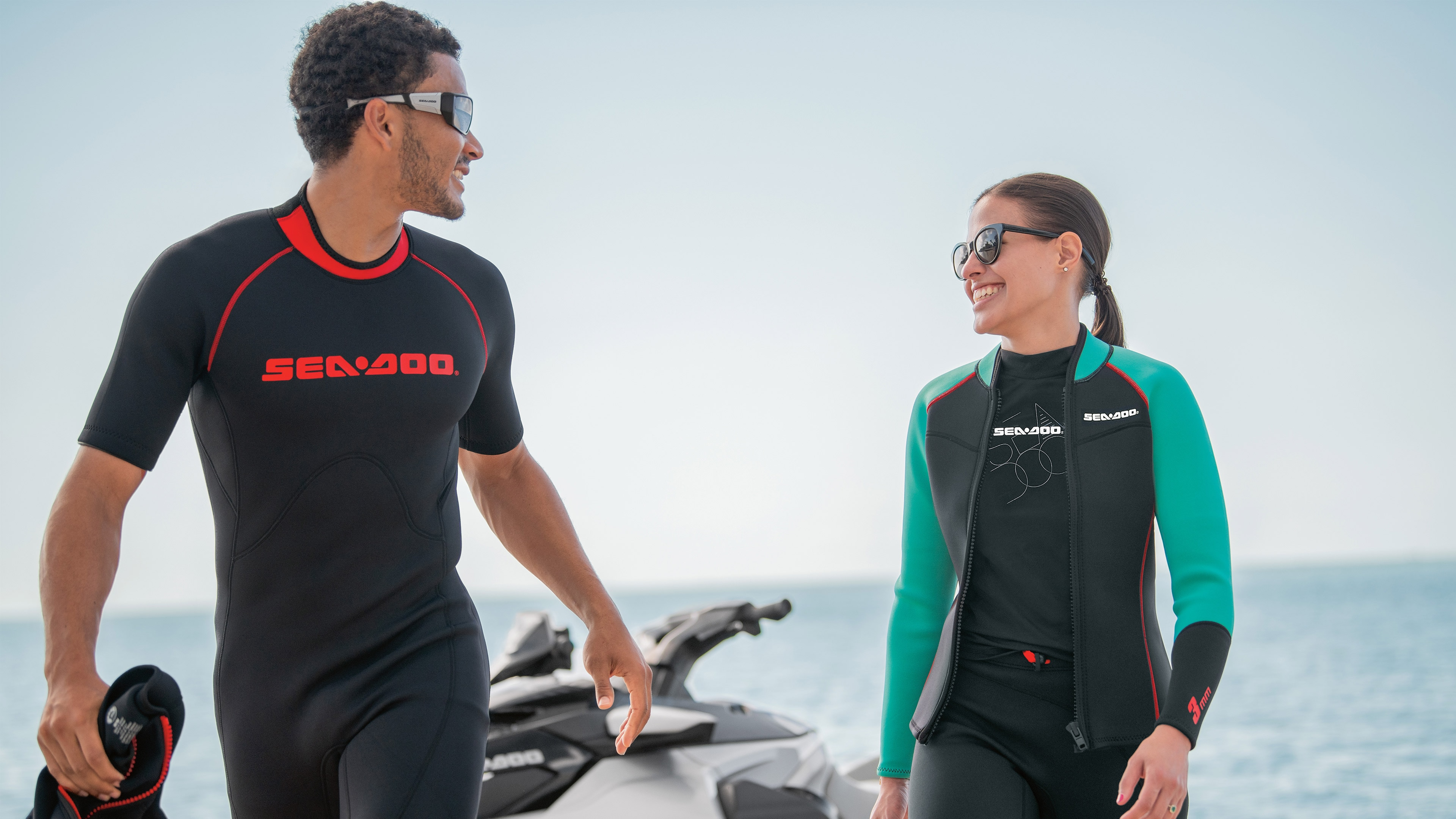 Couple in Sea-Doo Gear