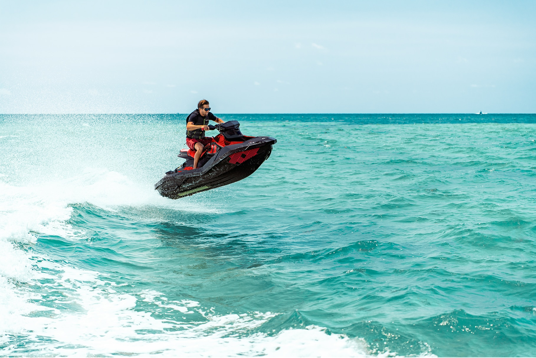 Man jumping on a Sea-Doo Spark