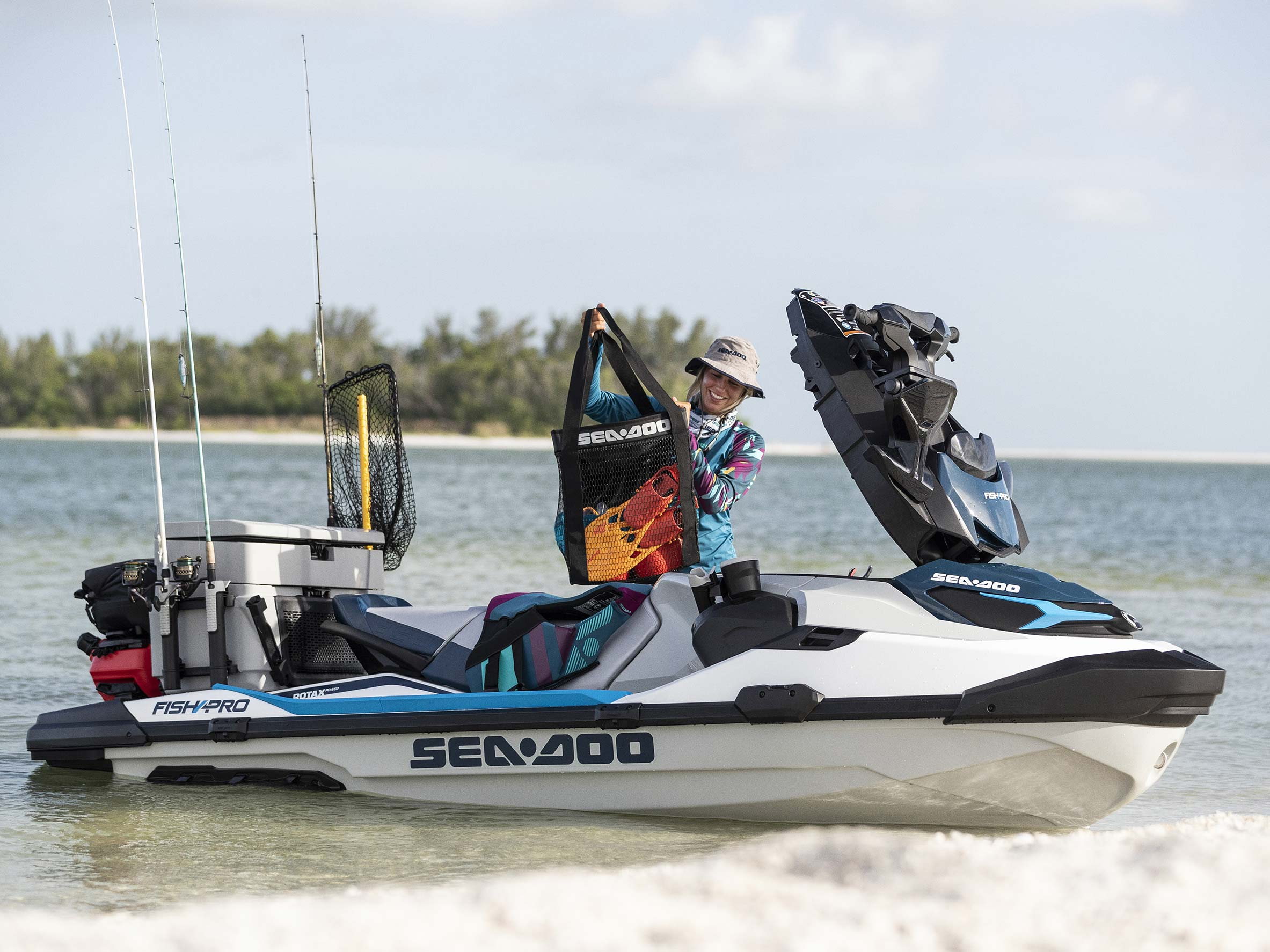Plataforma traseira estendida do Sea-Doo Fish Pro