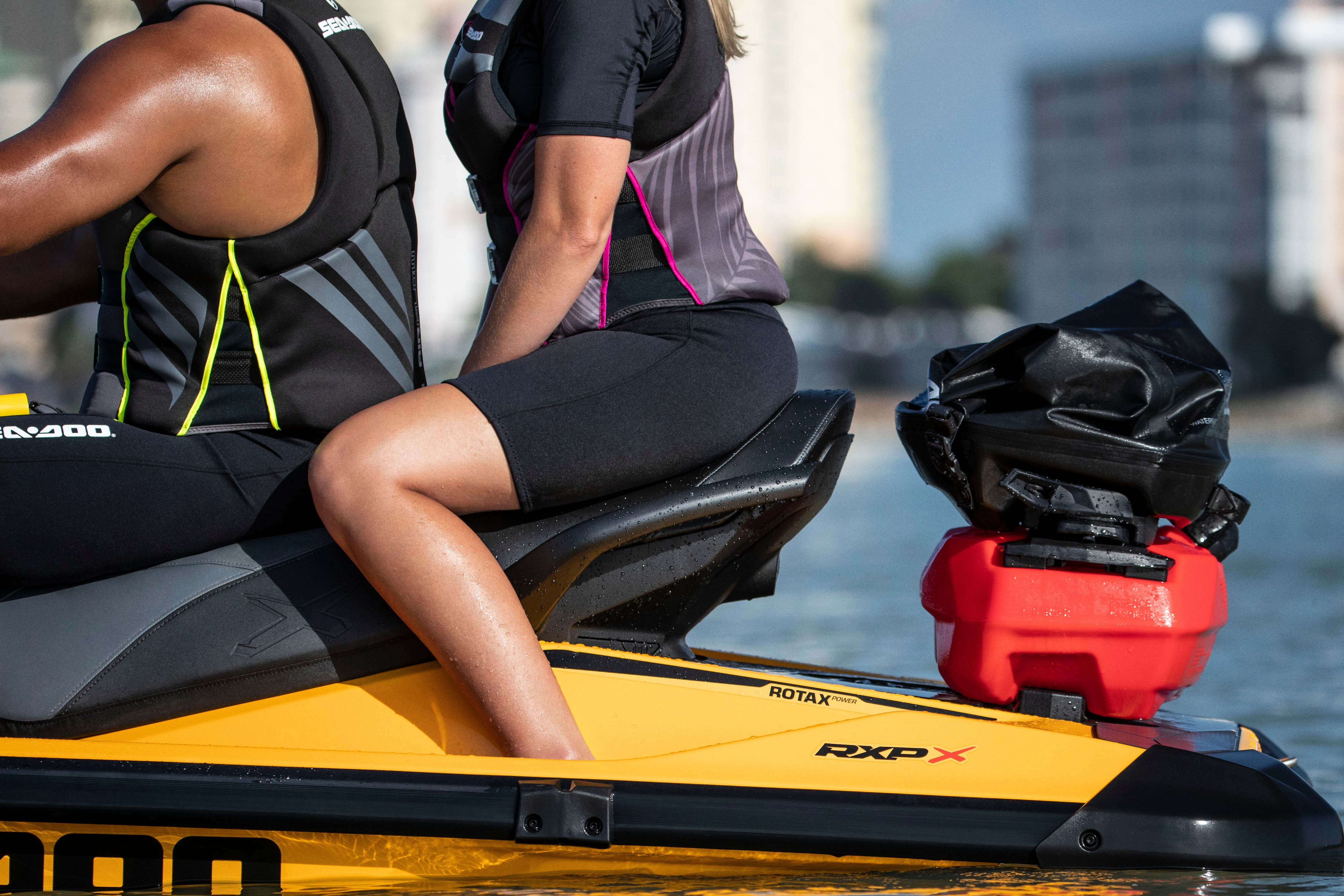 Couple on a Sea-Doo with Linq system