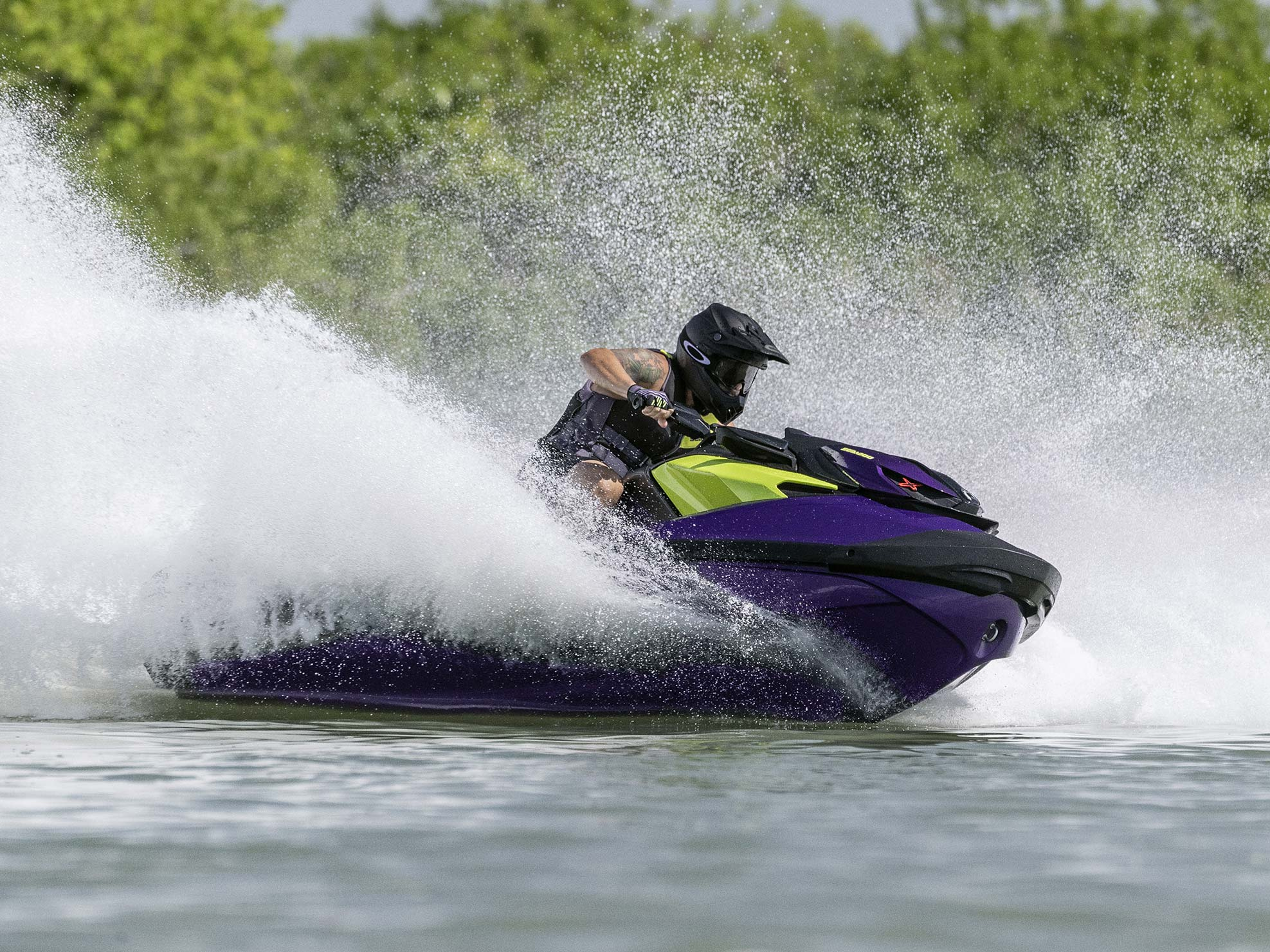 Man carving with a Sea-Doo on the water