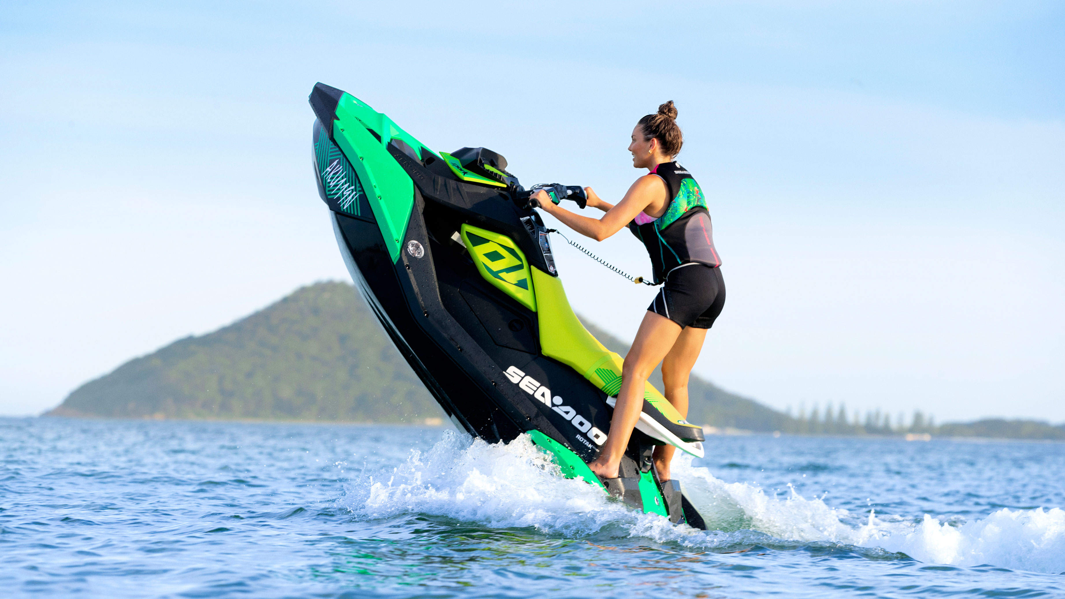 Women making a candle with her Sea-Doo SPARK TRIXX