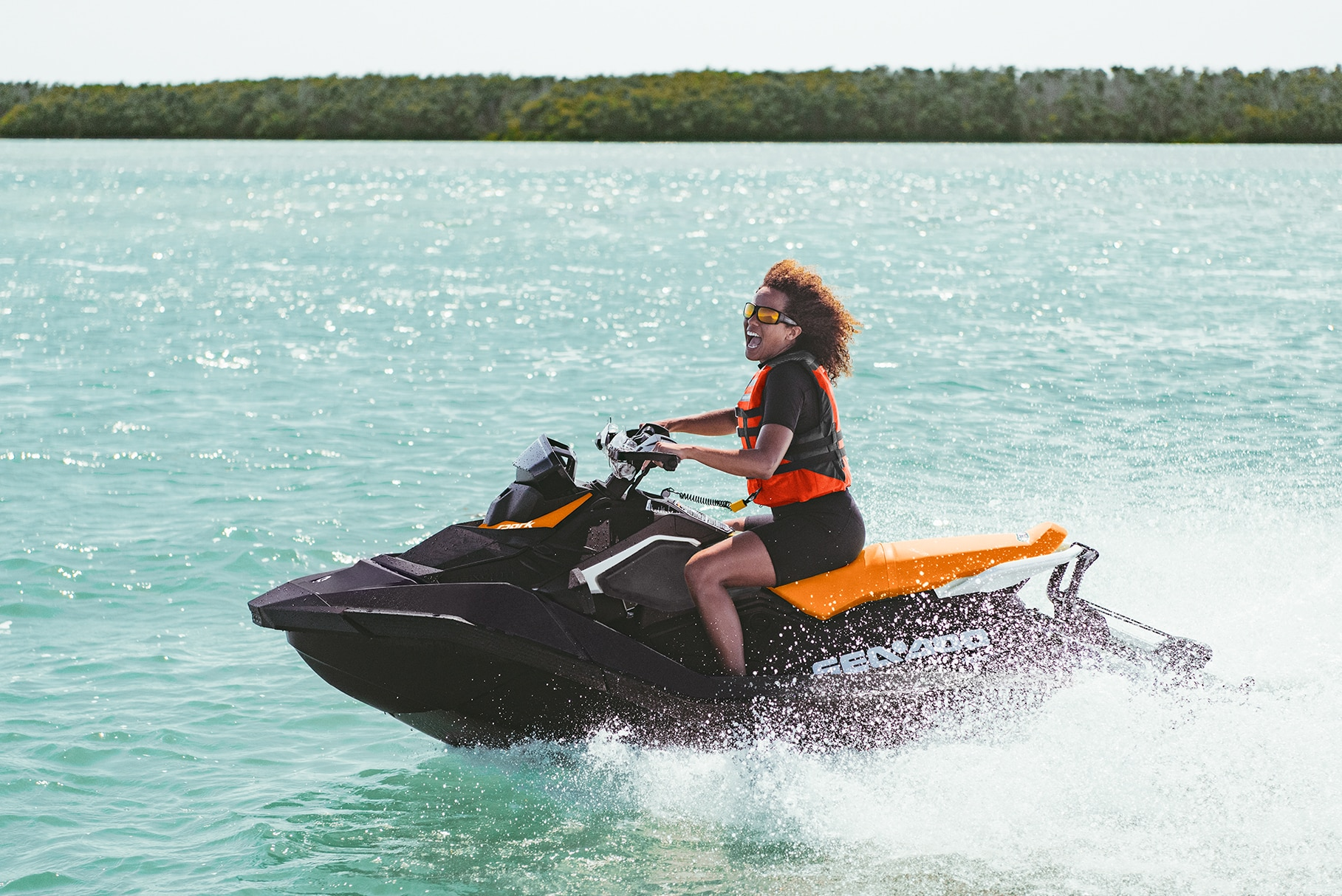 Woman enjoying her Sea-Doo Spark