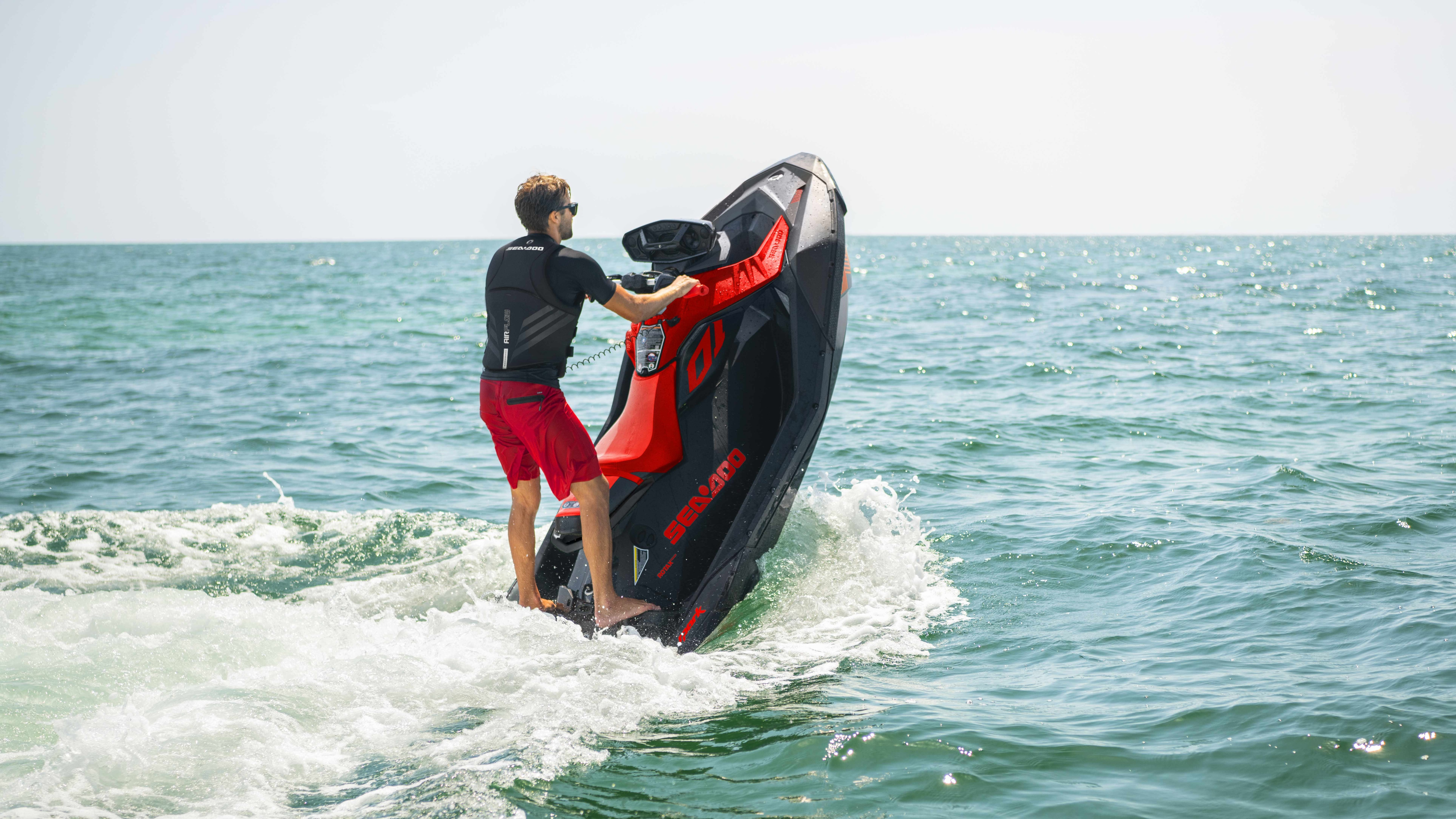 Man doing a candle with a Sea-Doo Spark Trixx and VTS system
