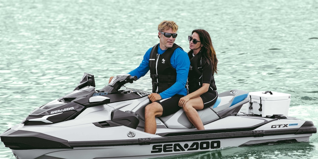 Couple Riding on a Sea-Doo