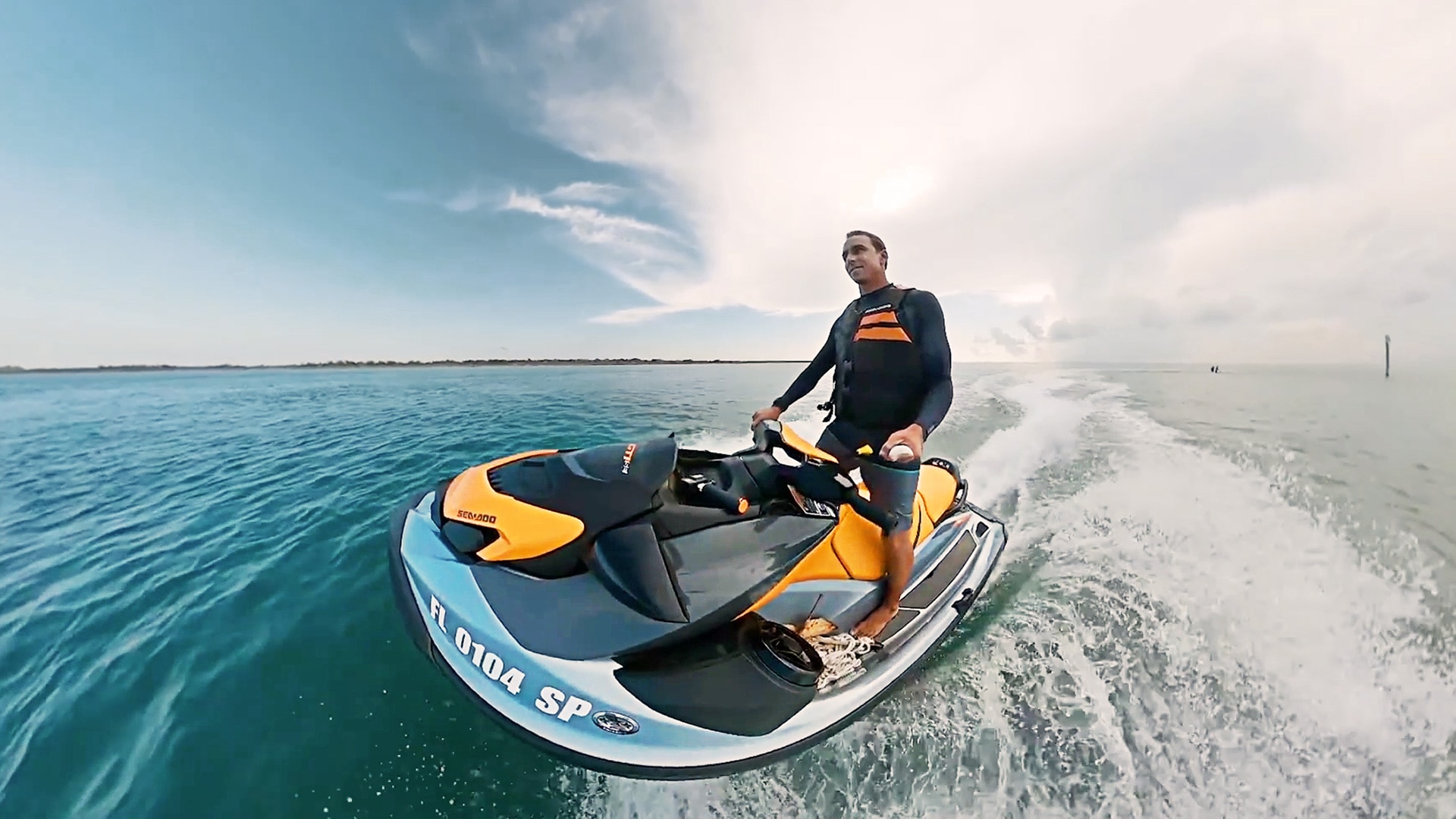 Brett's first Ride with Sea-Doo