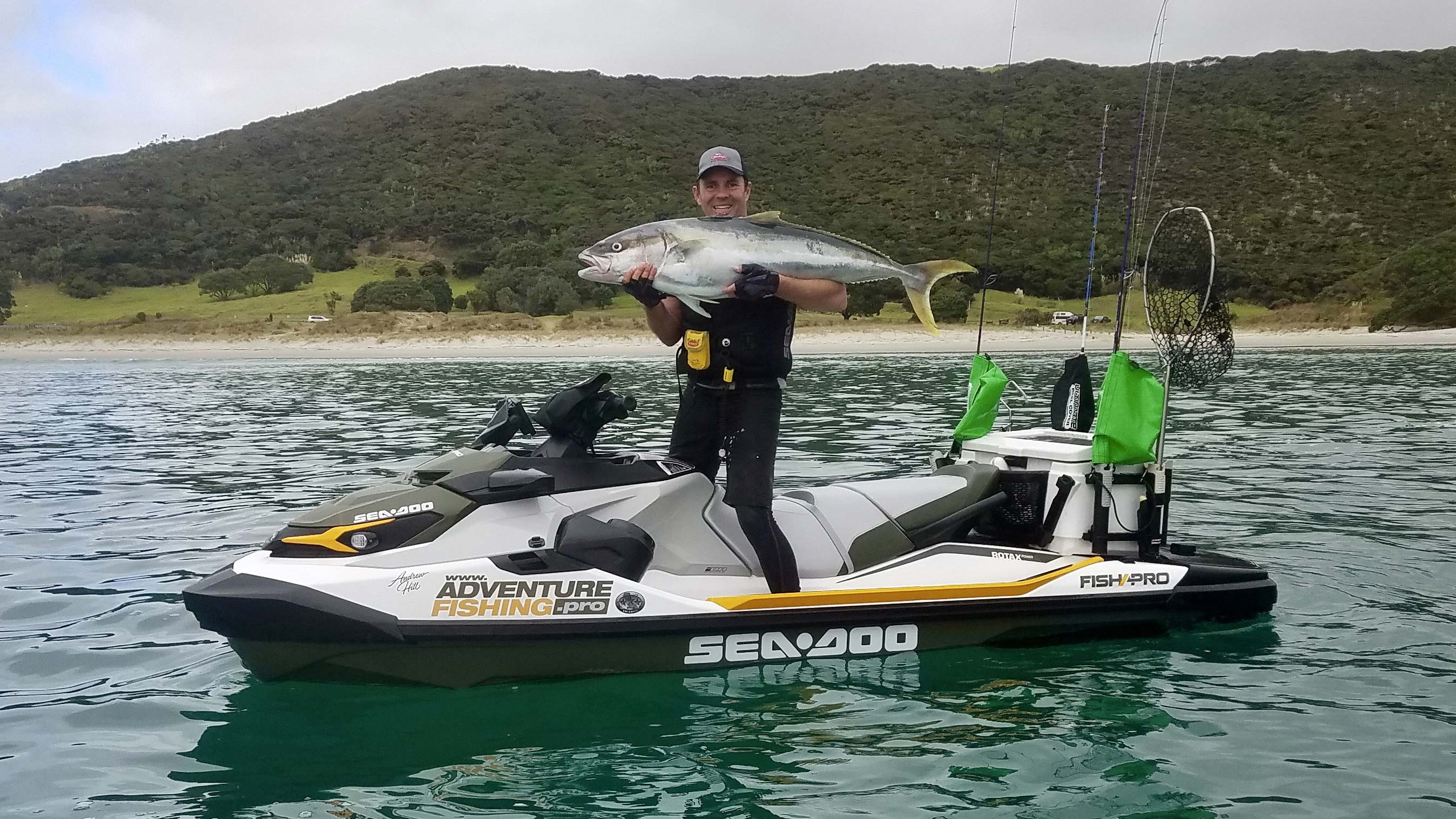 Andrew Hill fishing on his Sea-Doo Fish Pro